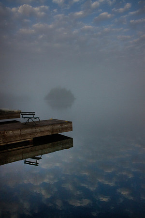 Foggy Reflections on Tobin Harbor