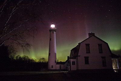 Presque Isle Light Aurora 4