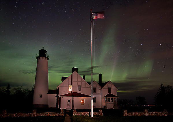 Iriquois Point Light Aurora