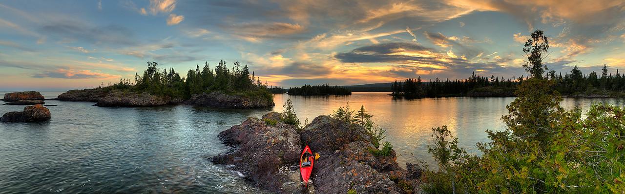 Davidson Island Sunset Panorama